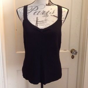 Monroe & Main Sweetheart Black Top Sz L